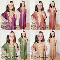kaftan anak velvet / baju muslim anak
