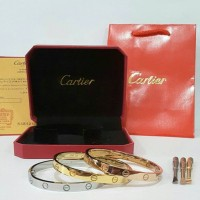 Gelang Cartier Love Eve Stainless Steel 316L mirrow