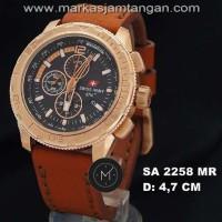 Jam Tangan Pria Swiss Army Sa-2258 Chronograph Leather Original