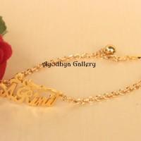 Gelang Nama Custom Lapis Emas - perhiasan Nama