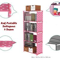 Lemari Rak Portable Serbaguna susun buku piala anak document organizer
