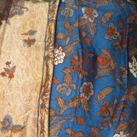 Bahan Batik Sutera - Biru Royal