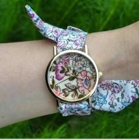 jam tangan geneva pita jtr 270 floral purple