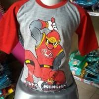 harga Kaos Raglan Anak Karakter Power Rangers Abu-Abu Tokopedia.com