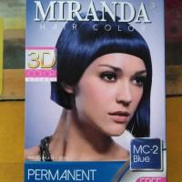 cat pewarna rambut Miranda Hair Color blue biru