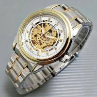 Jual Jam Tangan Rolex Tali Rantai Pria Cowok Skeleton Diamond Murah Kombi Murah