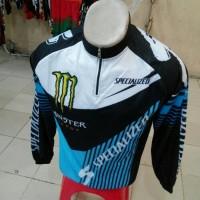 harga Kaos / Jersey Sepeda Specialized Monster Biru Hitam New Design Tokopedia.com