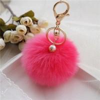 Gantungan Tas Bulu - Import Korea / Fluffy Ball Key Chain