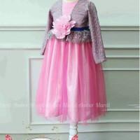 Dress Bunga Pink Lace Size 95 - 140