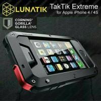 Casing Iphone 4 4S 4G Lunatik Taktik Case Cover Bumper Glass Metal