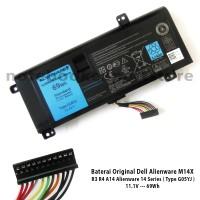 Baterai Ori Dell Alienware M14X R3 R4 A14 Alienware 14 Series - G05YJ