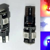 Lampu Sen Senja Jagung T10, 5 Led Smd 5050 Khusus Strobo