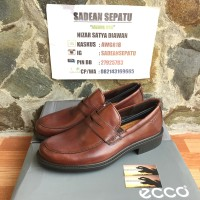 ECCO Boston Penny Loafer Mink Leather Original New
