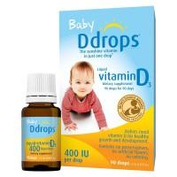 Baby Ddrops Vit. D3 400IU buat 0-12 bulan - Made in Canada (90 drops)