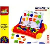 harga Mainan Edukatif Drawing Board Case Magnetic Letter & Number 2 in 1 Tokopedia.com