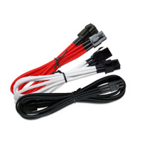 NZXT 6 Pin to 6 Pin VGA Extension - 45cm - Black / Red / White