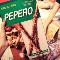 Lotte Pepero Almont and Chocolate BIG PACK!! Snack Import