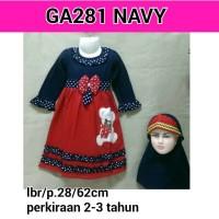 2-3 TAHUN GA281 NAVY GAMIS MUSLIM BAYI & ANAK