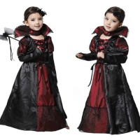 Jual Halloween Costume Kostum Anak Putri Vampire Long Dress Ukuran Xl Tb 13 Murah
