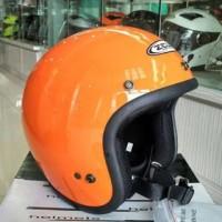 ZEUS 385 orange helm retro classic bogo import