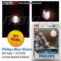 harga Lampu Motor Philips Blue Vision M5 K1 35/35w Terang & Fokus Tokopedia.com
