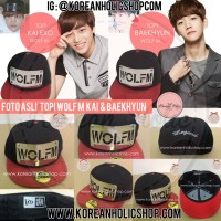 Foto asli topi wolf M Kai & Baekhyun EXO