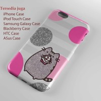Glitter Pusheen Hard case Iphone case dan semua hp
