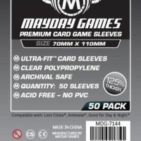Harga premium card sleeves 70x110 mm board game mayday magnum | WIKIPRICE INDONESIA