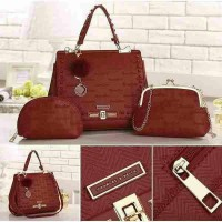 Charles And Keith 3in1 Set Pouch Tas Branded Tas Import Wanita