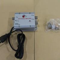 Menguatkan Sinyal TV Penjernih & Penguat Sinyal TV + 2 Output TV