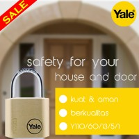 Gembok Terbaru Merek Yale Tipe Y110/60/135/1 habisin stock
