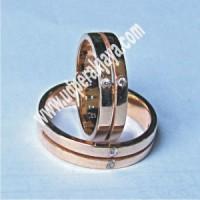 Cincin Kawin Perak Lapis Emas LES.023