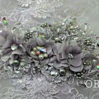 Headpiece Sakura / Hiasan jilbab Silver