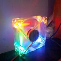 harga Fan Casing PC 12cm Transparan dengan Lampu LED Tokopedia.com