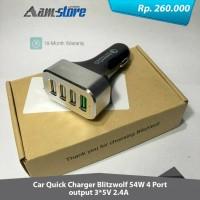 BlitzWolf BW-C2 Quick Charge 2.0A 4 Port USB Car Charger 54w Premium