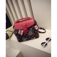 Harga tas impor merah coklat selempang ransel back pack multifungsi keren | Pembandingharga.com