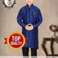 Baju Koko Anak Branded LNice Blue 1 Kids Size Ori