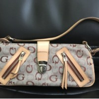 tas guess asli handbag wanita merk warna dasar coklat abu unik murah