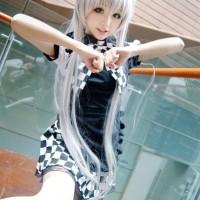 Costume Nyarlathotep maid Haiyore nyaruko Anime Cosplay Import Setelan
