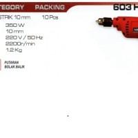 Mesin Bor 10mm Bolak Balik Variable Speed NRT-PRO 603 HD
