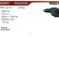 Mesin Bor 10mm Single Speed NRT-PRO 450 B HD / NRT-PRO 450B HD