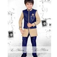 SETELAN KOKO VB BIG Baju Muslim Anak Import Kostum India Celana Rompi