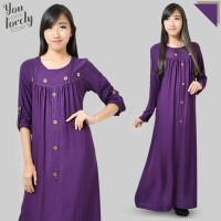 baju pakaian wanita murah islam muslim model bagus maxy warna ungu