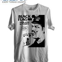KAOS BLACK FLAG - POLICE STORY TSHIRT GILDAN SOFSYLE