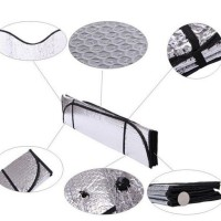 Sun Shield / Pelindung panas dashboard kaca mobil - size140CMX70CM