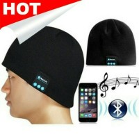 harga Black Wireless Bluetooth Beanie Music n Calls Topi Kupluk Hitam Tokopedia.com