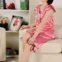 Baju Tidur Satin Short Pajamas Set Chinese Style With Shorts
