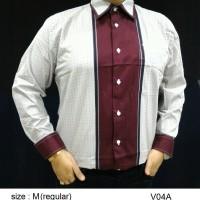 Baju Kemeja Batik Regular Fit V04A (Fashion Pria Jas Dasi Muslim Koko