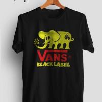 kaos/tshirt/gildan/vans/black label/sablon/custom