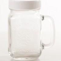 Jual Cangkir Drinking Jar Mug (Mason) : 450ml DENGAN penutup Murah